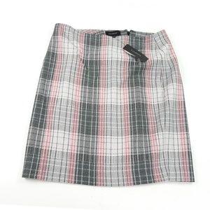 Talbots 12 Viscose Wool Plaid Pencil Skirt